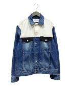 Calvin Klein Jeans(カルバンクラインジーンズ)の古着「デニムジャケット」 ホワイト×インディゴ
