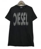 DIESEL()の古着「プリントTシャツ」|ブラック
