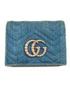 GUCCI()の古着「2つ折り財布」 ライトインディゴ