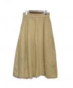 martinique(マルティニーク)の古着「ダブルクロススカート」 ベージュ