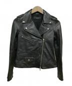 allureville(アルアバイル)の古着「ライダースジャケット」|ブラック