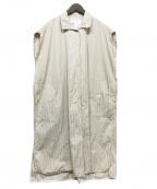 ticca(ティッカ)の古着「スクエアビッグシャツワンピース」 ベージュ