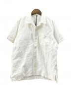 KAZUYUKI KUMAGAI ATTACHMENT(カズユキクマガイアタッチメント)の古着「C/Liオックスオープンカラー半袖シャツ」|ホワイト