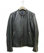 LIDnM(リドム)の古着「レザージャケット」|ブラック