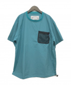 BURLAP OUTFITTER(バーラップアウトフィッター)の古着「ポケットTシャツ」|スカイブルー