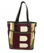 BALLY(バリー)の古着「Bロゴトートバッグ」|マルチカラー