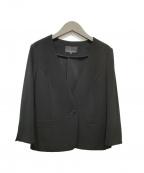 M-PREMIER(エムプルミエ)の古着「ノーカラージャケット」 ブラック