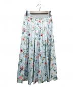ANAYI(アナイ)の古着「フラワープリントスカート」|スカイブルー