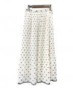 allureville(アルアバイル)の古着「プリーツスカート」|ホワイト×ブラック