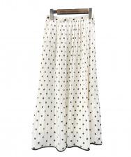 allureville (アルアバイル) プリーツスカート ホワイト×ブラック サイズ:S