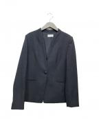 PLST(プラステ)の古着「ノーカラージャケット」|ネイビー