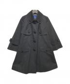 BURBERRY BLUE LABEL(バーバリーブルーレーベル)の古着「ステンカラーコート」|ブラック