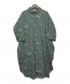 tsumori chisato(ツモリチサト)の古着「キューバンフラワーズワンピース」|グリーン