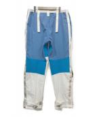 ()の古着「ナイロンワイドパンツ」|ホワイト×ブルー