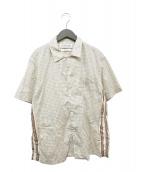 ()の古着「総柄シャツ」 イエロー