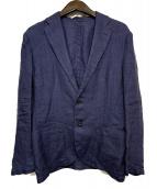 ()の古着「リネンジャケット」|ネイビー