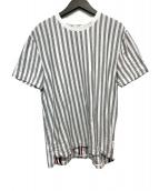 ()の古着「Light Grey Jersey RWB Stripe S」|グレー
