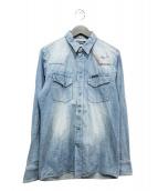 ()の古着「ウエスタン刺繍デニムシャツ」|ネイビー