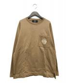 ()の古着「エンブレム刺繍スウェット」 ブラウン