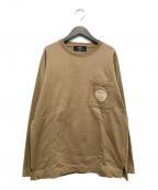 paris saint germain(パリサンジェルマン)の古着「エンブレム刺繍スウェット」 ブラウン