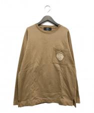 paris saint germain (パリサンジェルマン) エンブレム刺繍スウェット ブラウン サイズ:M