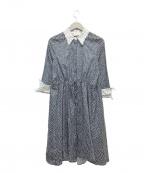 ROBERTA SCARPA(ロベルタスカルパ)の古着「シャツワンピース」 ホワイト×ネイビー