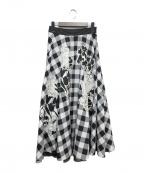 WEEKEND Max Mara(ウィークエンド マックスマーラ)の古着「フレアスカート」|ホワイト×ブラック
