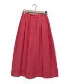 martinique()の古着「ギャザーフレアスカート」|ピンク