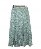 Demi-Luxe Beams(デミルクス ビームス)の古着「コットンボイルプリントスカート」 グリーン