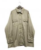 CarHartt()の古着「Twill long sleeve work shirt」 ベージュ