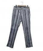 ISSEY MIYAKE(イッセイミヤケ)の古着「ストライプキリカエパンツ」|ブルー