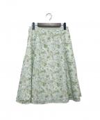 TOCCA×LIBERTY(トッカ×リバティ)の古着「WOODHAM EMB スカート」|ミント