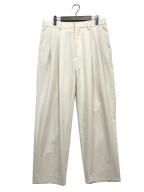URU(ウル)の古着「2 TUCK PANTS」|アイボリー