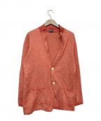 Drumohr(ドルモア)の古着「リネン混ニットジャケット」|レッド