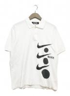 NIKE×BLACK COMME des GARCONS(ナイキ×ブラック コムデギャルソン)の古着「ポロシャツ」|ホワイト