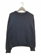 AURALEE(オーラリー)の古着「ギザスーパーソフトプルオーバー コットンニット セーター」|ネイビー