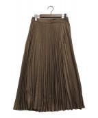()の古着「プリーツスカート」|ブラウン