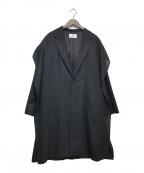 JUN OKAMOTO(ジュンオカモト)の古着「強い風から画家を守るためのコート」|ブラック