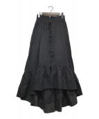 ()の古着「リンクルコットンペティコートスカート」|ブラック