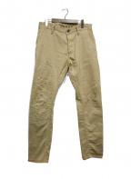 Denham(デンハム)の古着「リペア加工テーパードパンツ」|ベージュ