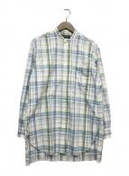 ()の古着「バンドカラーシャツ」|ブルー