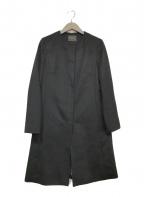 TOMORROW LAND(トゥモローランド)の古着「カシミアノーカラーコート」|ブラック