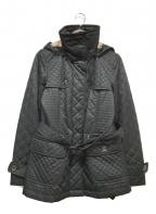 BURBERRY LONDON(バーバリー ロンドン)の古着「キルティングコート」|ブラック