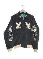東洋エンタープライズ()の古着「別珍ジャケット」|ブラック×グリーン