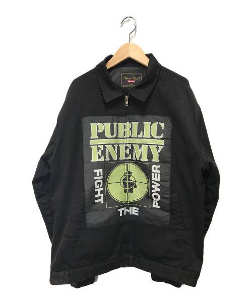 SUPREME × UNDERCOVER × Public Enemy(シュプリーム×アンダーカバー×パブリックエナミー)SUPREME × UNDERCOVER × Public Enemy (シュプリーム×アンダーカバー×パブリックエナミー) ワークジャケットウィズウーブンパッチ ブラック サイズ:Lの古着・服飾アイテム