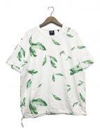 KITH()の古着「シアサッカーリーフプルオーバーシャツ」|ホワイト×グリーン