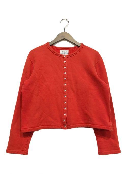 agnes b(アニエスベー)agnes b (アニエスベー) スナップカーディガン レッド サイズ:2の古着・服飾アイテム