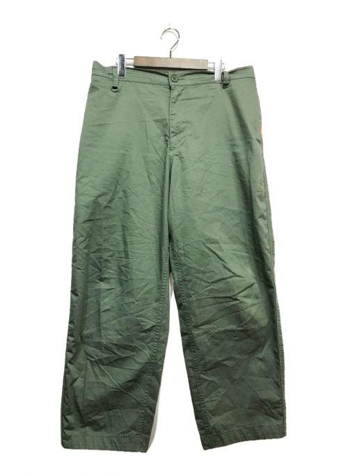 UNDEFEATED(アンディフィーテッド)UNDEFEATED (アンディフィーテッド) ワイドパンツ オリーブ サイズ:XLの古着・服飾アイテム