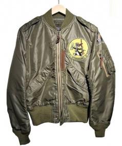 TOYS MCCOY(トイズマッコイ)の古着「スーベニアL-2フライトジャケット」|カーキ