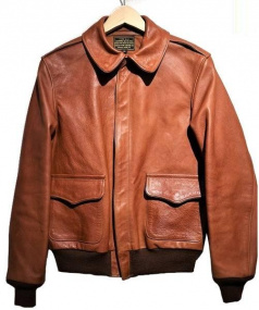 RAINBOW COUNTRY(レインボーカントリー)の古着「A-2ジャケット」|ブラウン